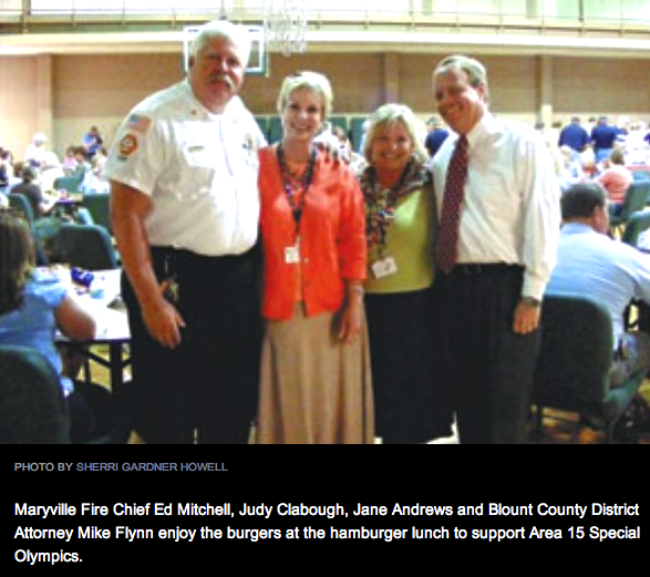 DISTRICT ATTORNEY GENERAL MIKE FLYNN (FAR RIGHT)   daily beacon photo