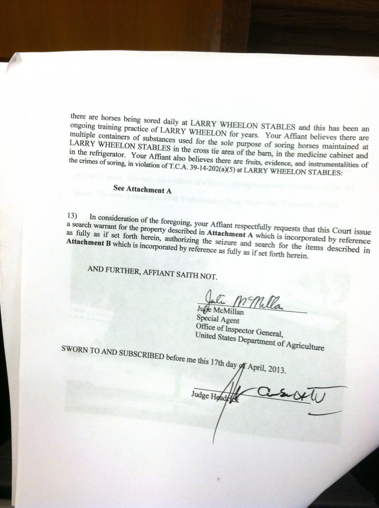OFFICER'S RETURN ON SEARCH WARRANT