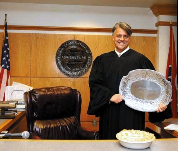 JUDGE HEADRICK WINS CHOCOLATE PIE CONTEST