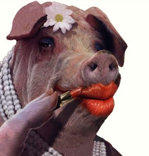 BIG LICK LIPSTICK ON A PIG