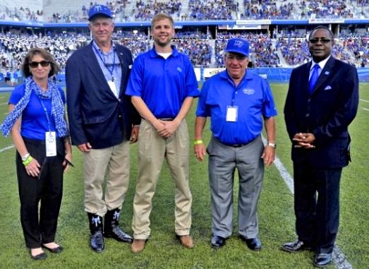 STEVE SMITH - (2nd from Left) BEING HONORED AT MTSU HOMECOMING - DR. SIDNEY MCPHEE (FarRight
