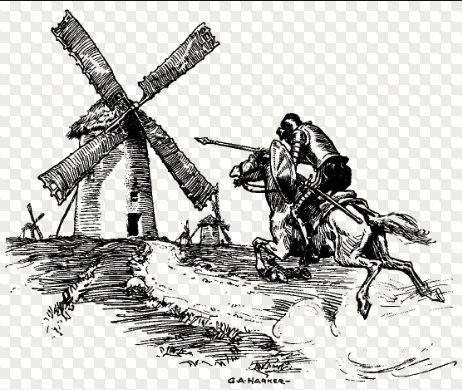 KING STEVE AND CHIEF JUSTICE WALT TILTING AT WINDMILLS