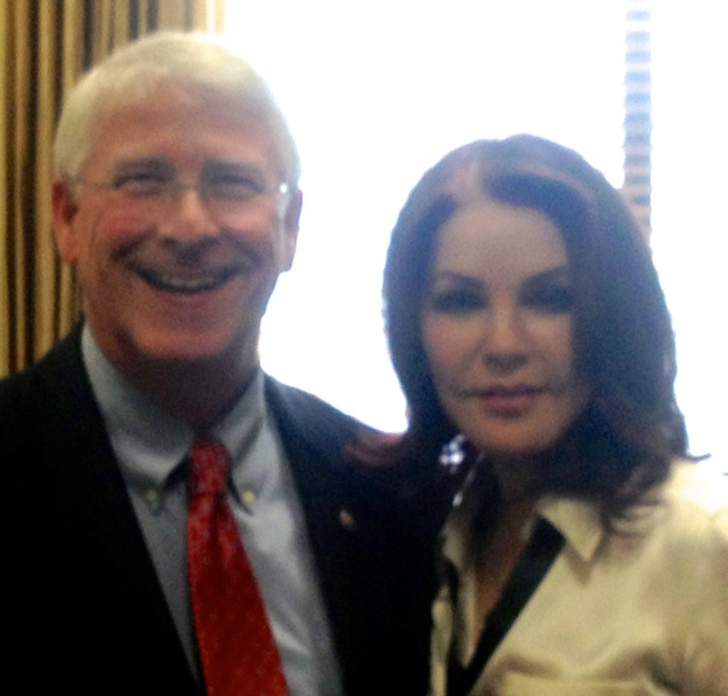 U. S. SENATOR ROGER WICKER (R-MS) WELCOMES PRISCILLA PRESLEY