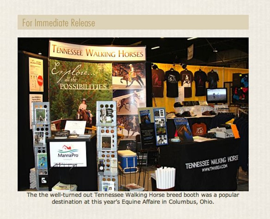 TWHBEA EXHIBIT - EQUINE AFFAIRE - COLUMBUS, OHIO
