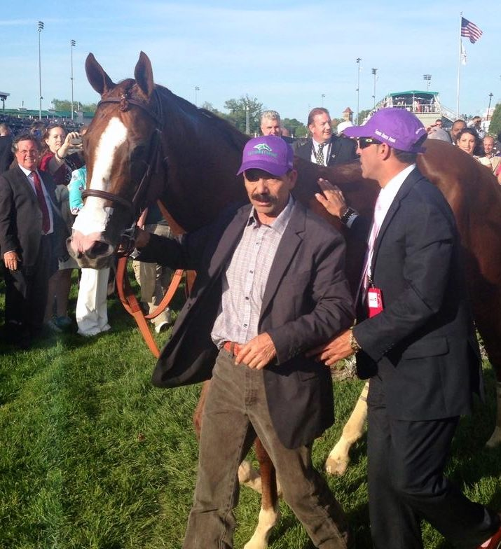 """CALIFORNIA CHROME"" AT CHURCHILL DOWNS ON DERBY DAY 2014"