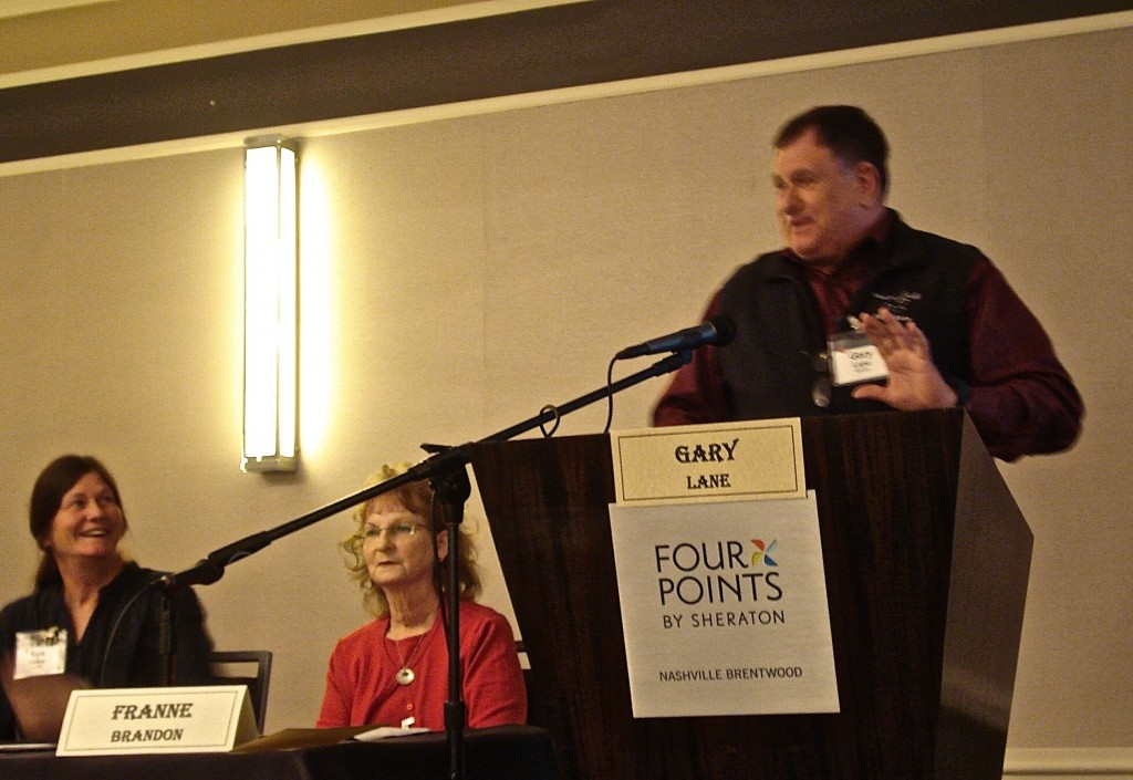 SOUND HORSE CONFERENCE, BRENTWOOD, TENNESSEE (Left to Right - Nya Bates, Franne Brandon,  Gary Lane)