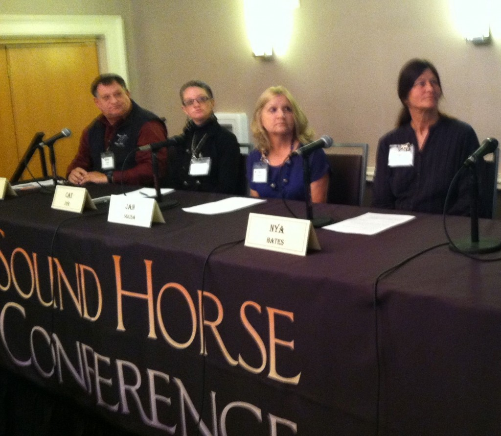 NYA BATES, MELBA, IDAHO - PANELIST, SOUND HORSE CONFERENCE (4TH FROM LEFT)