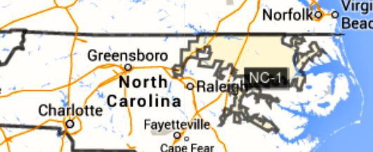 1ST CONGRESSIONAL DISTRICT OF NORTH CAROLINA
