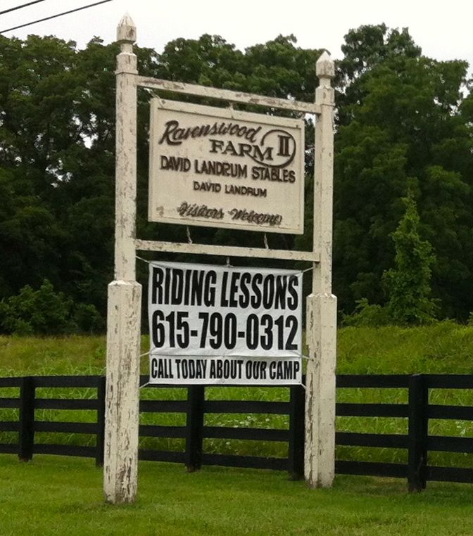 "DAVID LANDRUM STABLES - ""VISITORS WELCOME"""