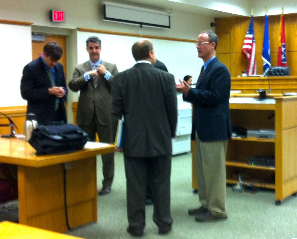 ATTORNEYS FOR DEFENDANTS - LEFT TO RIGHT - TYLER WEISS FOR BRANDON LUNSFORD; ROB WHITE FOR LARRY JOE WHEELON; GEORGE WATERS FOR RANDALL STACY GUNTER