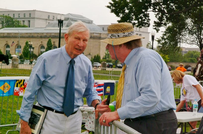 "FORMER U.S. SENATOR JOE TYDINGS AND CLANT M. SEAY, SPOKESPERSON ""WALK ON WASHINGTON"" - ALL AMERICAN WALKING HORSE ALLIANCE"