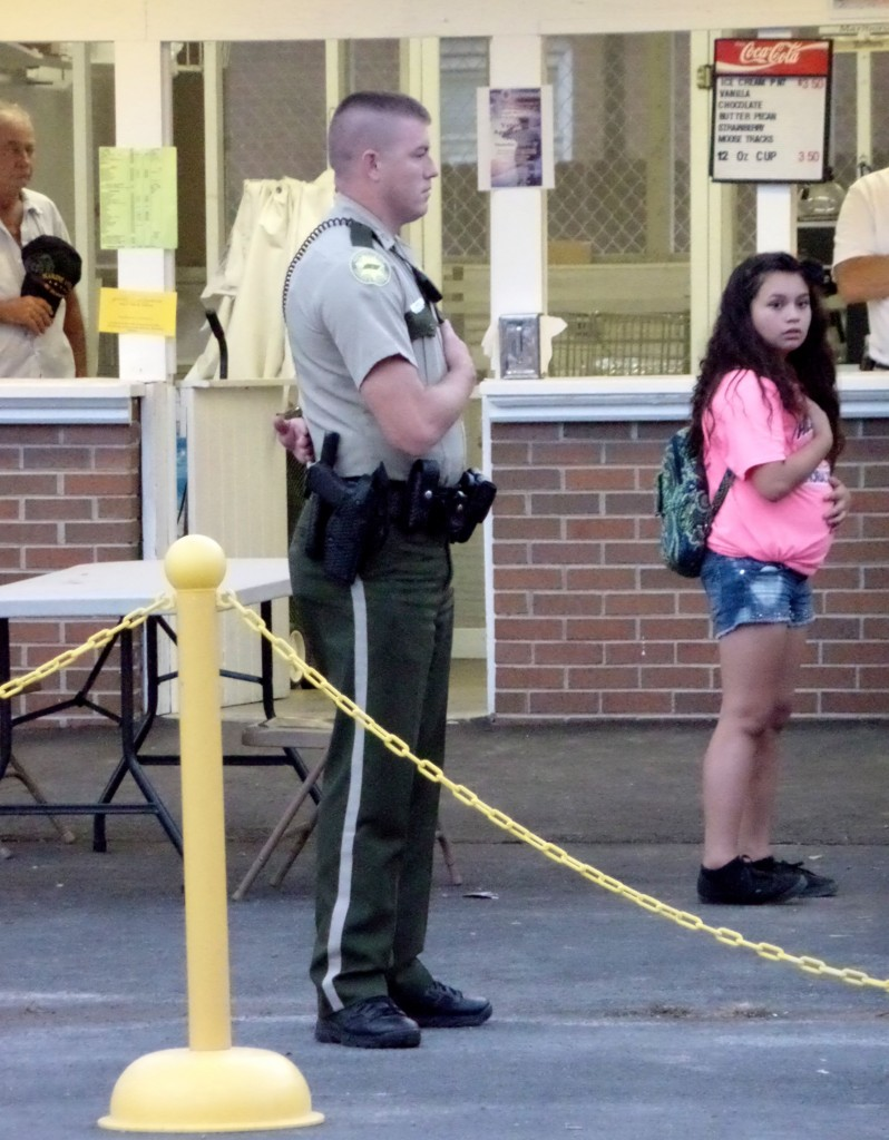 ARMED SECURITY AT VFW CONCESSION STAND
