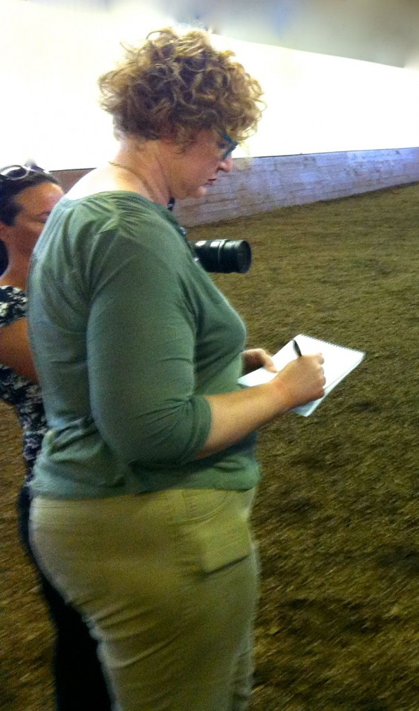 HEIDI HALL, DOING HER LAST WALKING HORSE GIG FOR THE TENNESSEAN