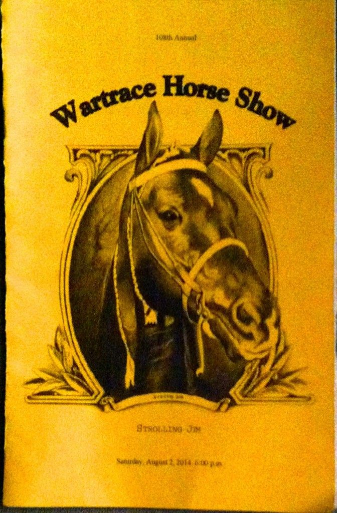 WARTRACE HORSE SHOW - AUGUST 2, 2O14