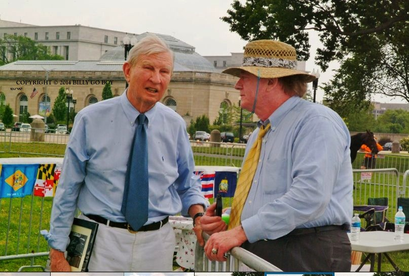 FORMER SENATOR JOSEPH TYDINGS (D-MD) AND CLANT M. SEAY, SPOKESPERSON, ALL AMERICAN WALKING HORSE ALLIANCE AT HISTORIC WALK ON WASHINGTON