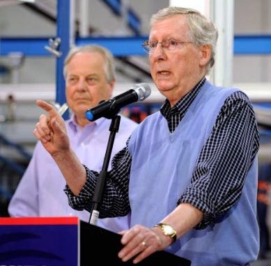 SENATOR MITCH MCCONNELL AND CONGRESSMAN ED WHITFIELD CAMPAIGNING TOGETHER IN KENTUCKY