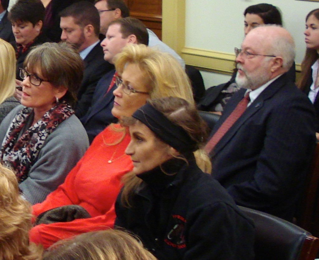 MS CONSTANCE (CONNIE) HARRIMAN-WHITFIELD (In Red) ATTENDING NOV. 13, 2013 PAST ACT CONGRESSIONAL HEARING WITH SOUND HORSE ADVOCATES