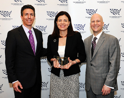 HSUS CEO WAYNE PACELLE, SENATOR KELLY AYOTTE (R-NH), HSUS CHIEF PROGRAM OFFICER MIKE MARKARIAN