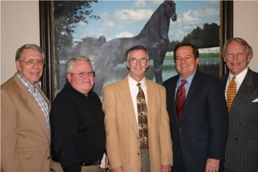 (Left to Right)  VIRGIL JOHNSON, CHARLES MCDONALD, DR. DOYLE MEADOWS, DAVID L HOWARD, JOHN T. BOBO