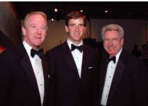 ARCHIE AND ELI MANNING, AND DR. DAN JONES, OLE MISS CHANCELLOR