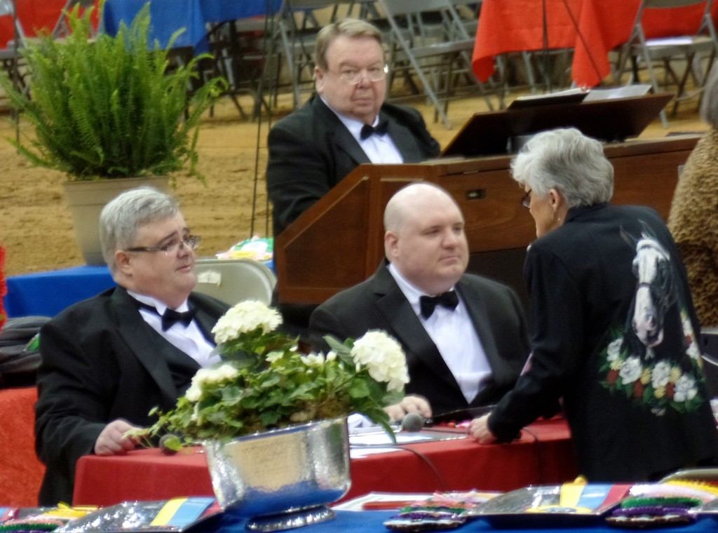 HORSE SHOW ANNOUNCER MR. TOMMY WILLIAMS AND ORGANIST MR. LARRY BRIGHT