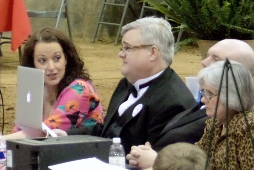 RING MISTRESS JOY SMITH AND HORSE SHOW ANNOUNCER TOMMY WILLIAMS