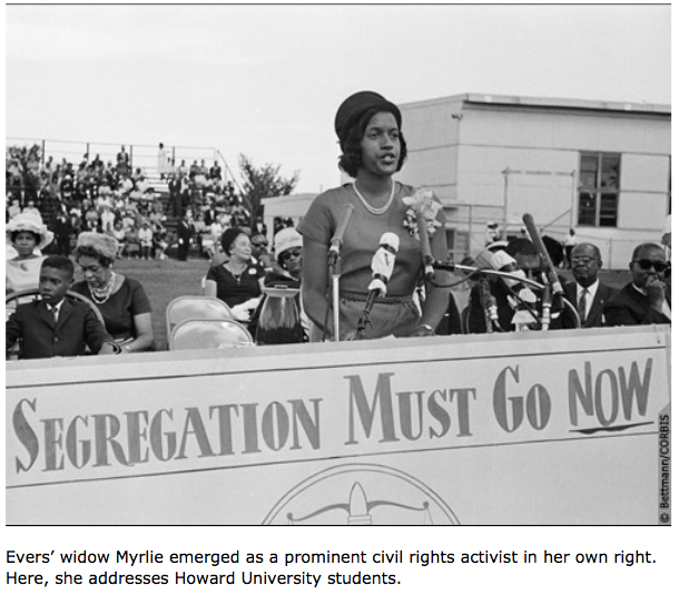 NATIVE MISSISSIPPIAN MYRLIE EVERS CALLING FOR CHANGE