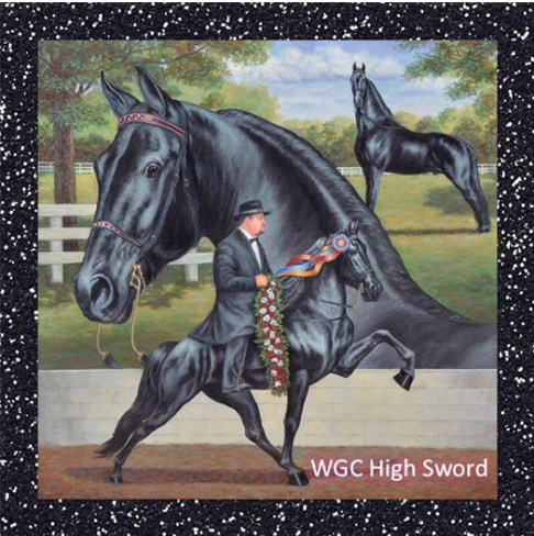 2014 WORLD GRAND CHAMPION RACKING HORSE - HIGH SWORD - OWNED BY MS. KIMBERLY COULT WITH MR. JAMIE LAWRENCE UP
