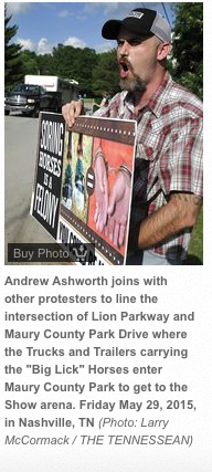DREW ASHWORTH PROTESTING BIG LICK ANIMAL CRUELTY ON MAY 29, 2015