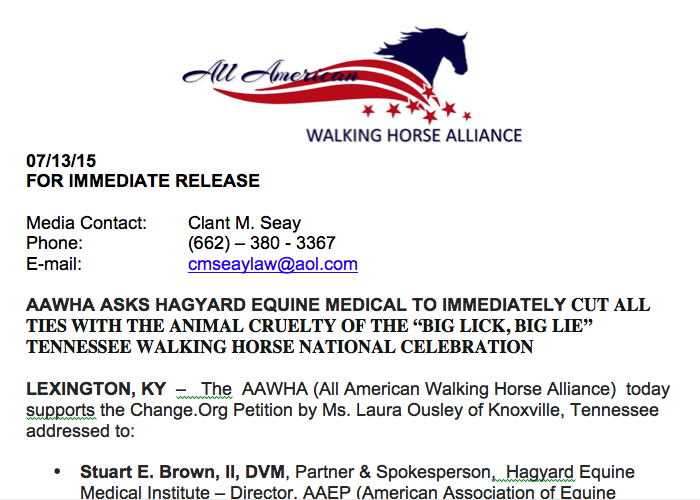 aawha official jeannie mcguire calls on hagyard equine