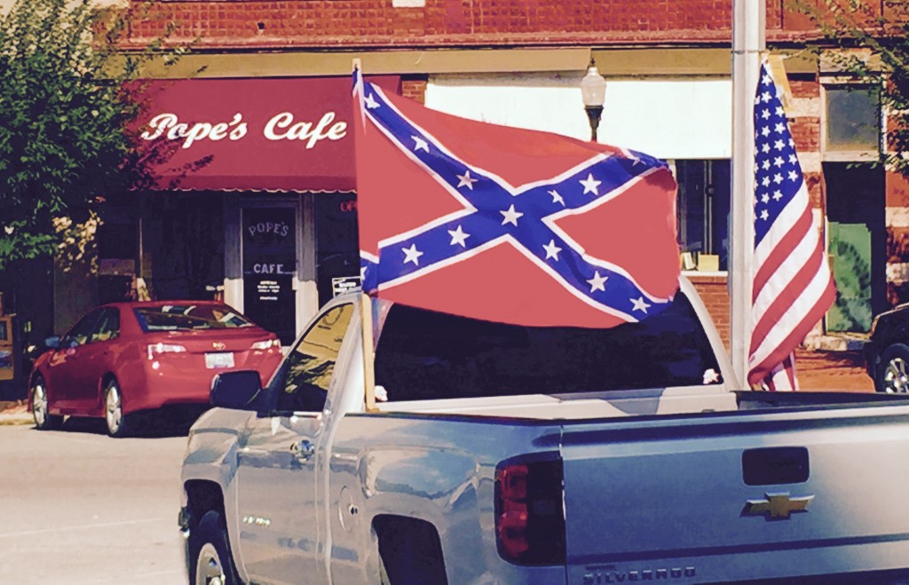 REBEL FLAG ON THE SQUARE IN SHELBYVILLE, TENNESSEE