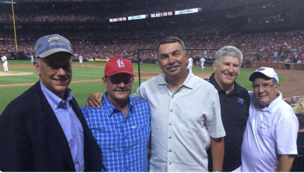 (Far Left) Steve Smith; (Far Right) Rick Insell Steve Smith Hosting MTSU Athletic Official in St Louis Cardinals Baseball Park
