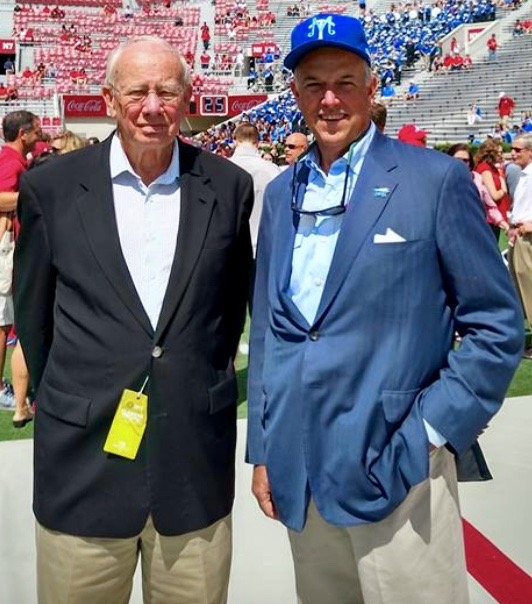 TWHBEA OFFICIALS MR. WALT CHISM AND MR. STEVE SMITH AT MTSU VS ALABAMA FOOTBALL GAME ON SEPT. 12, 2015