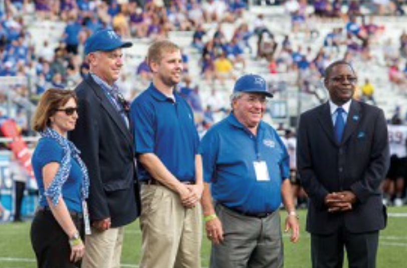 (2nd From Left) MR. STEVE SMITH - (Far Right) MTSU PRESIDENT DR. SIDNEY A. MCPHEE