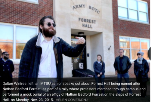 "MTSU PROTEST AT ""FORREST HALL"" - Daily News Journal Photo"