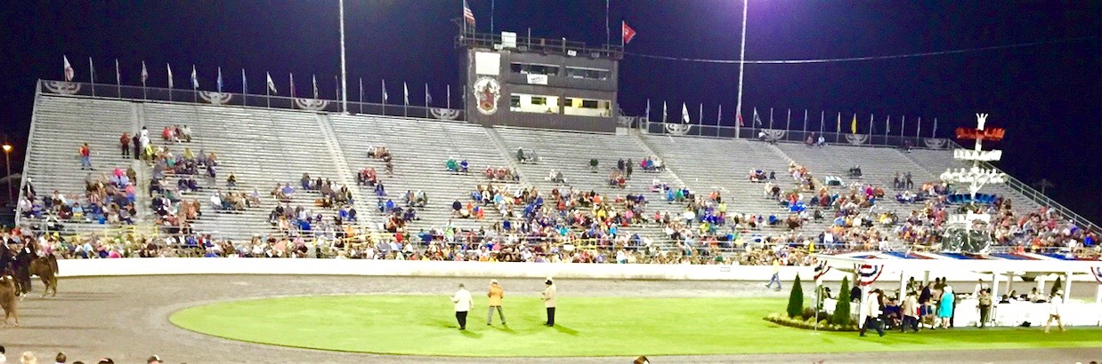Saturday Night, August 30, 2015 - Empty West Grand Stands