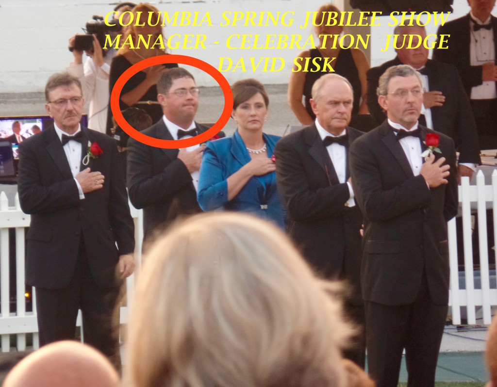 (CIRCLED) MR. DAVID SISK, COLUMBIA HORSE SHOW MANAGER - 2014 TENNESSEE WALKING HORSE NATIONAL CELEBRATION JUDGE
