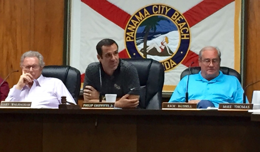 (Left to Right) Mr. Gary Williamson, Mr. Phillip Griffitts, Jr., Mr. Rick Russell (Vice Mayor)