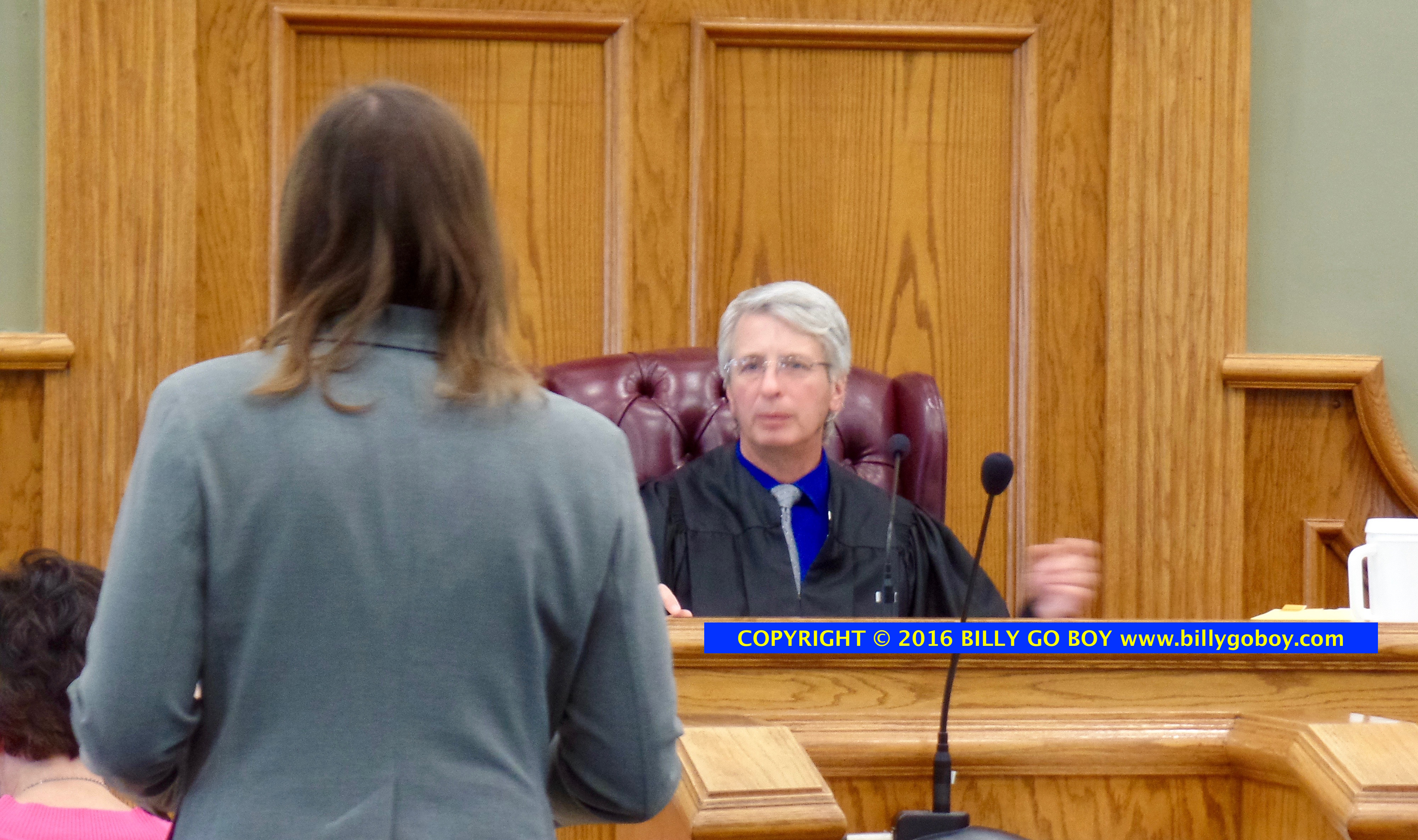 Assistant District Attorney General Karen Walkup making final argument to Circuit Judge Durard.