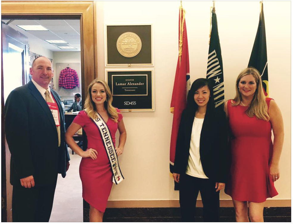(Left to Right) Former TN House member Rep. Eric Swafford (Evens, Tennessee); Junee (Gray, Tennessee); Taryn (Nashville, Tennessee); Ashley Cunningham (Franklin, Tennessee)
