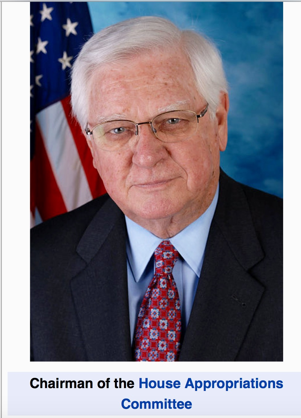 House Appropriations Committee Chairman Rep. Hal Rogers (R-KY)