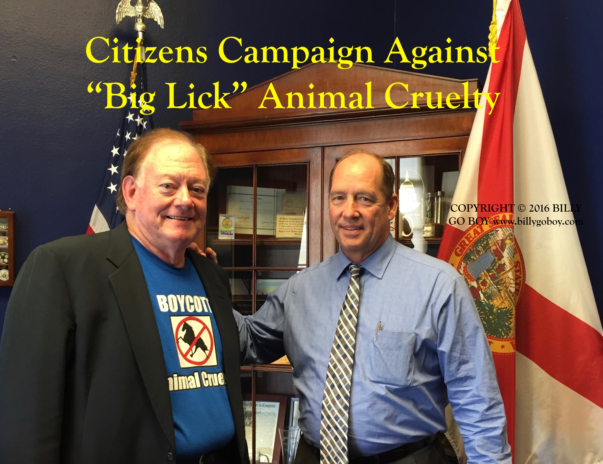 Clant M. Seay and U. S. Rep. Ted Yoho (R-FL)