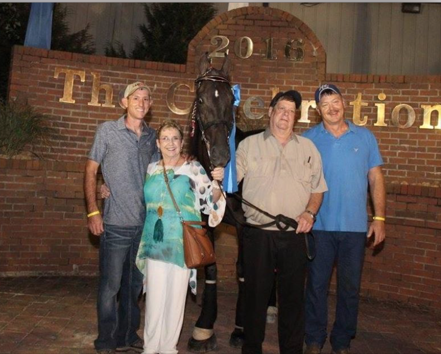 "Trainer Mr. Casey Wright, Ms. Gayle Cagle, ""Jose's Extra Special"", Mr. Sammy Cagle, Trainer Mr. Michael Wright"