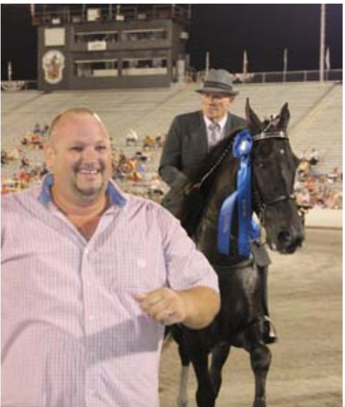 Walking Horse Trainers Association Mr. Edgar Abernathy and Mr. Richard Mitch, World Champion, TN Walking Horse National Celebration - Aug. 26, 2016 Photo Credit The Walking Horse Report